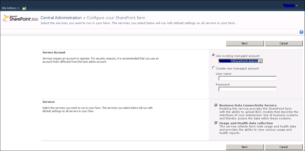 Installing SharePoint Foundation 2010 with Remote BLOB