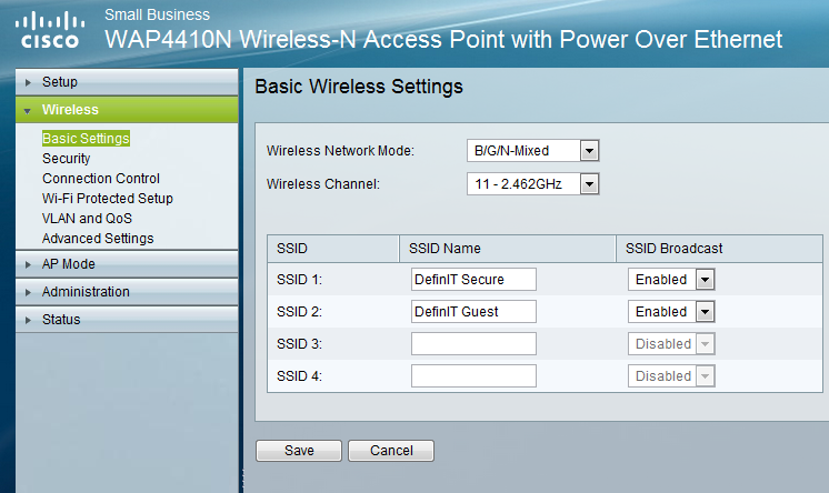 Configuring a Guest wireless network with restricted access to