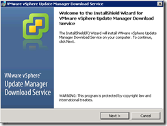 Installing VMware vSphere Update Manager Download Service and