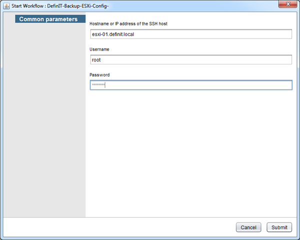 Backing up ESXi 5 5 host configurations with vCenter Orchestrator