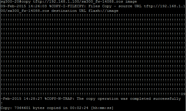 Updating Cisco SG300 firmware the command line way · DefinIT