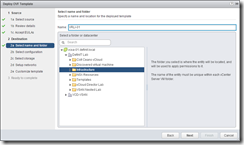 vRealize Log Insight - Select a name and location