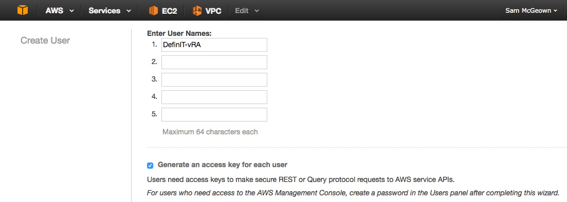 Adding an AWS endpoint to vRealize Automation 7 · DefinIT