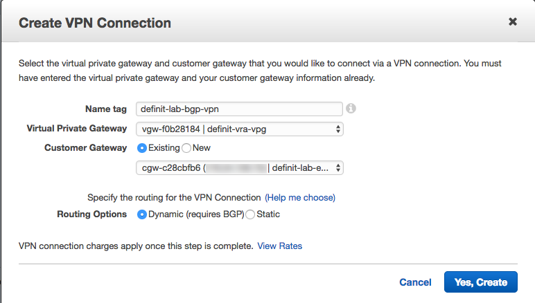 Creating an AWS Hardware VPN Connection with Ubiquiti