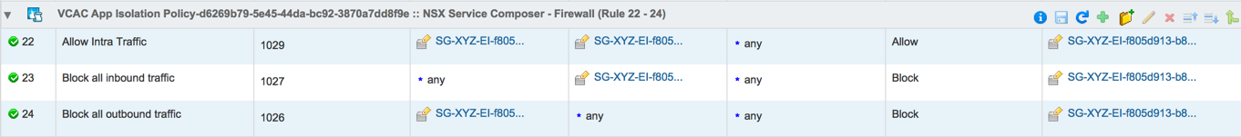 App Isolation Firewall Rules