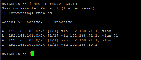Cisco SG300 – Static route not showing, but already exists