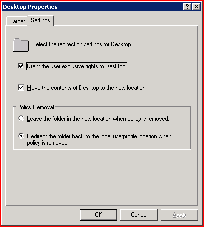 How to force the removal of Folder Redirection from specific